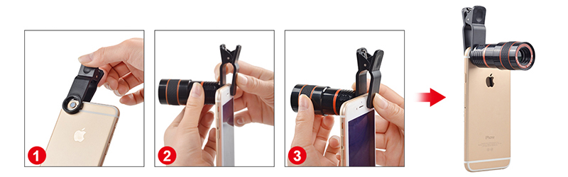 17 12X Zoom Phone lens Universal Telephoto Camera Lens with tripod holder for iPhone Samsung Xiaomi HTC HUAWEI lens APL-HS12X 9