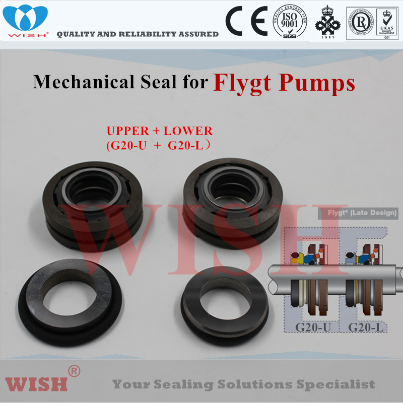 Joint mécanique supérieur + inférieur 20mm/code pompe Flygt et Grindex 3085