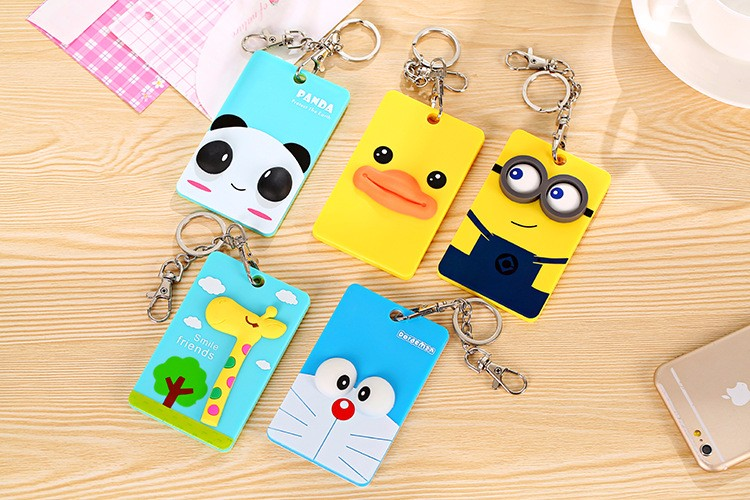 Minions Cartoons PVC Card ID Holder