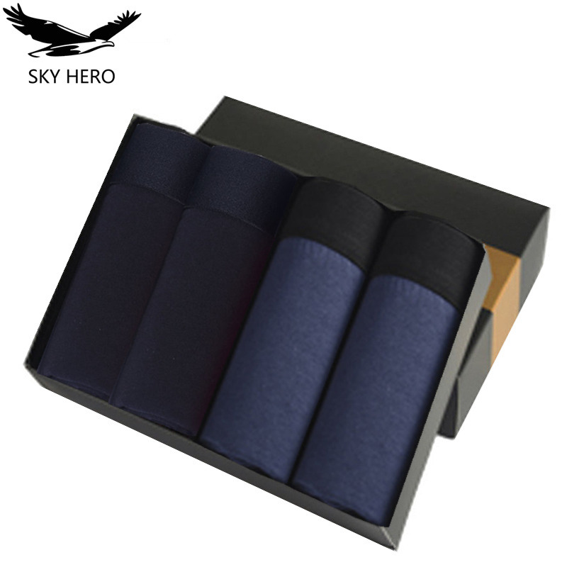 4pcs/lot Underwear Men Boxer Homme Men's Boxershorts Cotton Boxers Underpants Man Male Panties Sexy Brand Hombre Soft