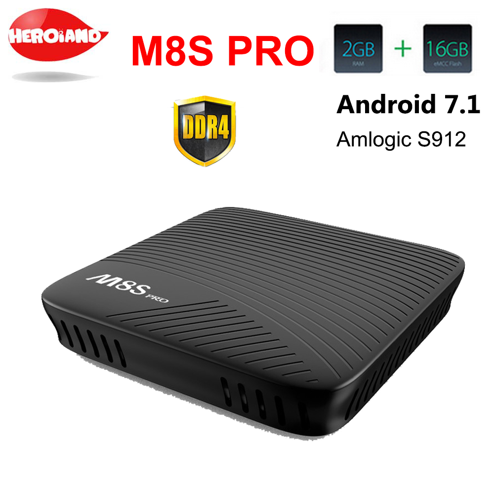 MECOOL M8S PRO Android 7.1 TV Box BT 4.1 DDR4 Amlogic S912 2.0GHz Octa Core ARM Cortex-A53 4K Full HD 3D PK KI PRO set top  box