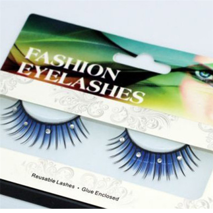 2017 A# Hot eyelashes Fashion Women Soft Simulation Rhinestones Stage Fake Eyelashes G