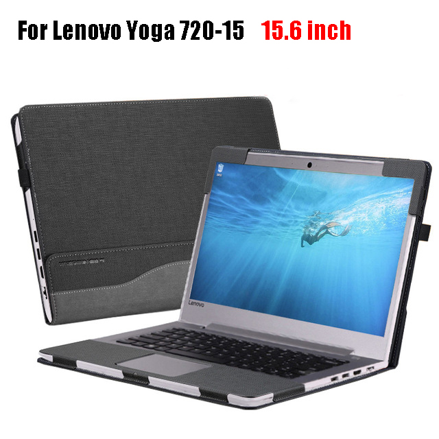 High Quality Tablet Laptop Case Cover for Lenovo Yoga 720 720-15 15.6 Inch Laptop Sleeve Case PU Leather Protective Skin new original for lenovo thinkpad yoga 260 bottom base cover lower case black 00ht414 01ax900