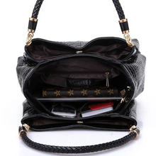 2017 Alligator Leather Women Handbag Bolsas De Couro Fashion Famous Brands Shoulder Bag Black Bag Ladies Bolsas Femininas Sac