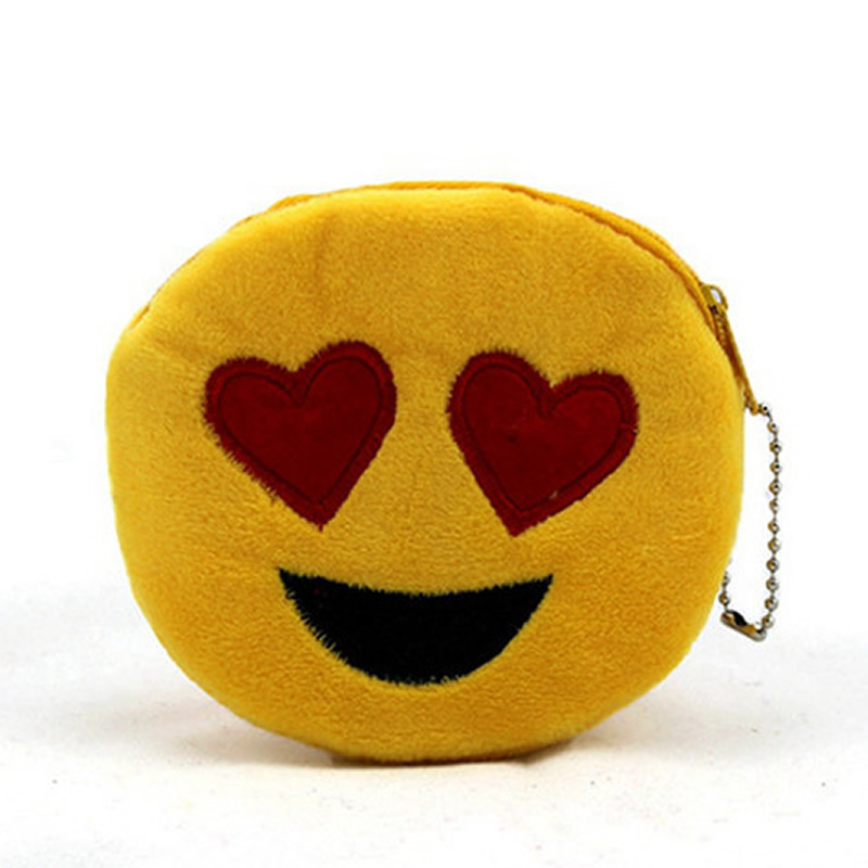 Cute Smiley Coin Purses Holder Girl Kids Women Plush Mini Change Wallets Money Bag Coin Bag Children Zipper Pouch Gift ougold girl cylindrical character zipper new fashion coin purses mini portable headphones cute zero wallets