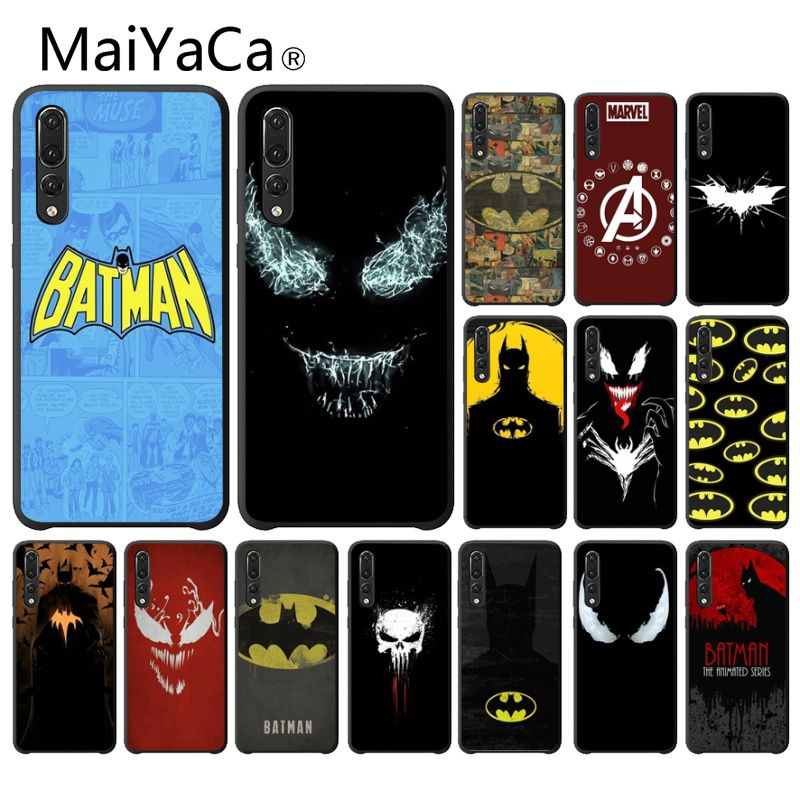 MaiYaCa marvel Batman logo Novelty Fundas Phone Case Cover for Haiwei P9 P 10 Plus P20 P20 Por Honor 9 10 Cover image