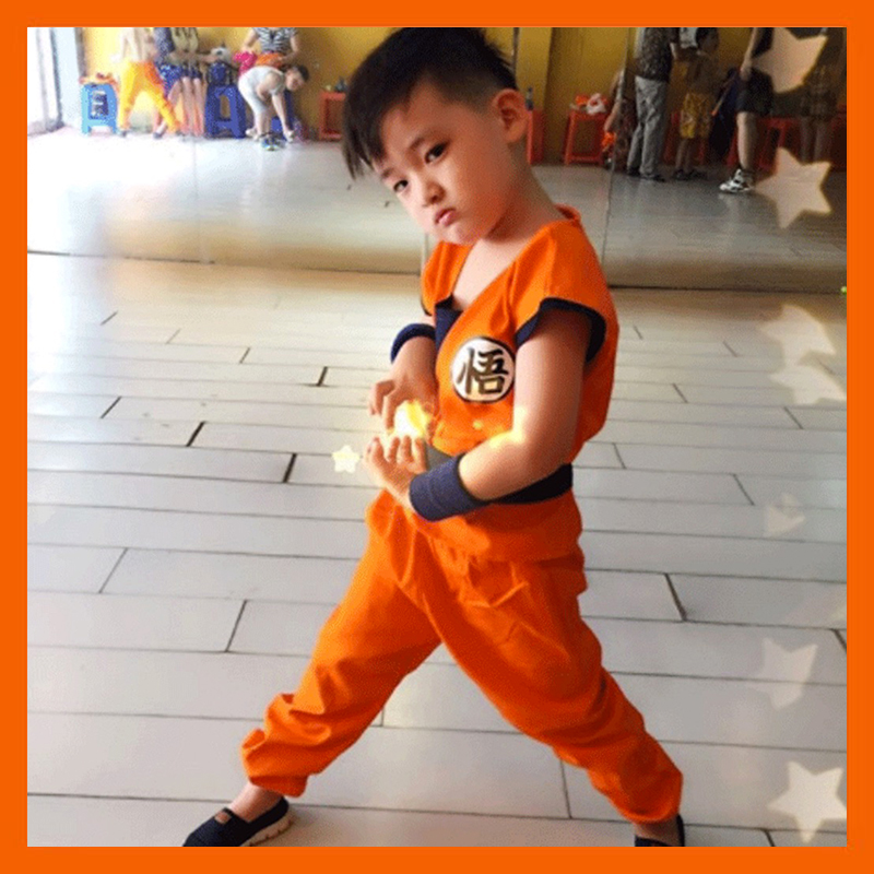 DRAGON BALL Z SON GOKU COSPLAY COSTUME CHILDREN TURTLER COSPLAY CLOTHING HALLOWEEN JAPAN CARTOON DRAGONBALL JACKET COAT