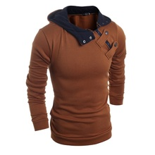 Brand 2016 Knitted Pullover Mens Lapel Fashion Sweaters Male Paste Paper Polo Shirt Winter Men Sweater XXL(China)