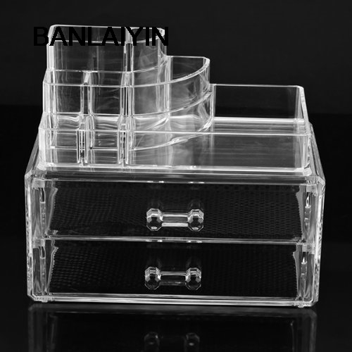 WholeTide 10* Cosmetics Organizer Clear Acrylic Makeup Organizer Holder Multiple Display clear acrylic a3a4a5a6 sign display paper card label advertising holders horizontal t stands by magnet sucked on desktop 2pcs