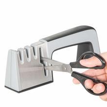 4 в 1 Ножи Алмазная точилка покрытием и тонкий керамический стержень Ножи ножницы и ножницы заточка Системы Нержавеющаясталь лезвия
