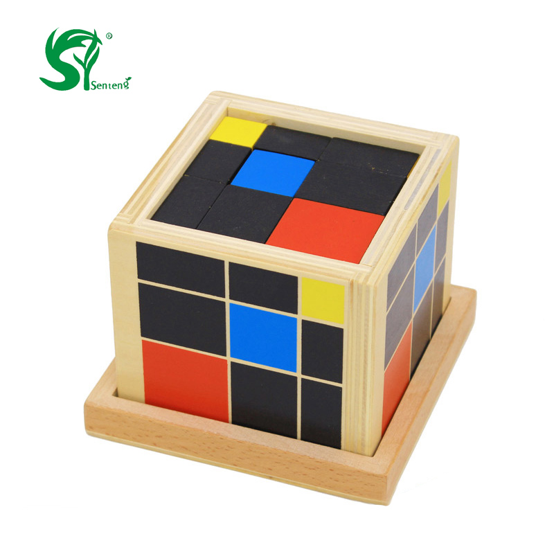 Montessori Educational wooden toys for children Trinomial Cube Magic Kids Toys Math Learning Creative Teaching aid oyuncak yj yongjun moyu yuhu megaminx magic cube speed puzzle cubes kids toys educational toy