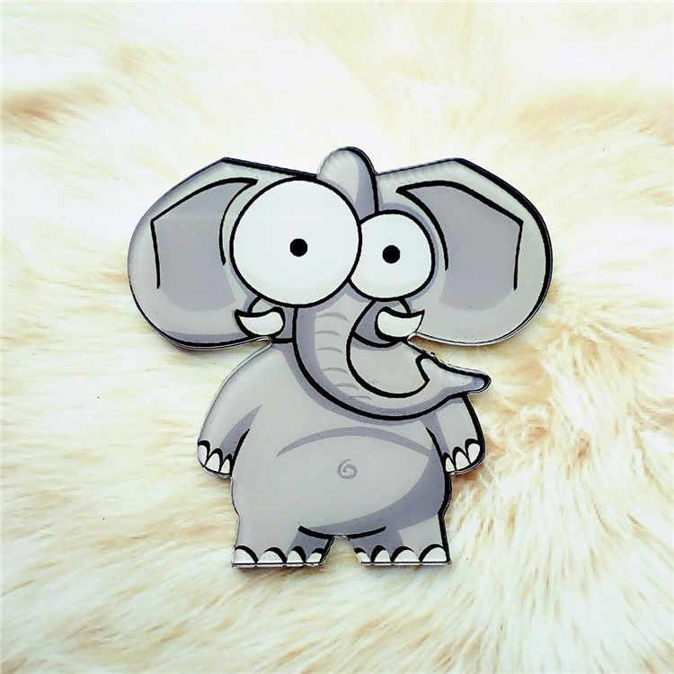 1 Pcs Harajuku Pin Bros Plastik Animal Lion Zebra Gajah Lencana untuk Anak-anak Pakaian Ikon Di Ransel Akrilik Lencana