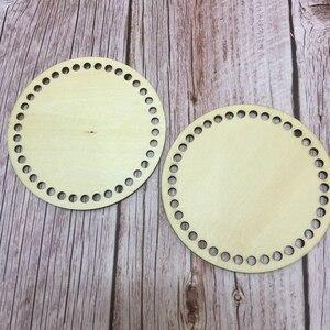 Image 3 - 20 قطعة 10 سنتيمتر سلة دائرية قواعد diy خشبية جولة قيعان فارغة دائرة عبر غرزة