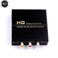 ZB High Quality 1080P HD HDMI To AV Auto Scaler 3 RCA AV R L Audio