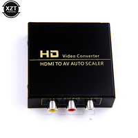 ZB High Quality 1080P HD HDMI To AV Auto Scaler 3 RCA AV R L Audio