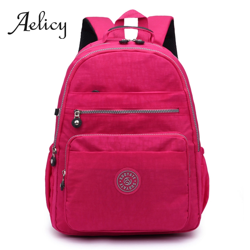 Aelicy Fashion Students Backpack Unisex High Quality Waterproof Nylon Women Men School Bag Large Capacity Teenager BackpacksAelicy Fashion Students Backpack Unisex High Quality Waterproof Nylon Women Men School Bag Large Capacity Teenager Backpacks