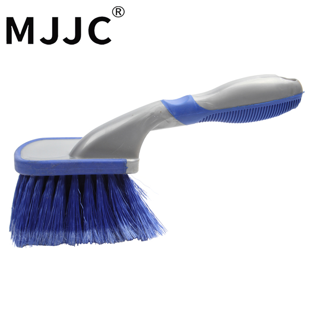 MJJC Multi-Functional Car Tyre Cleaning Brush Wheel Washing Tool Anti-Slip Soft Handle Long Type Automobile Cleaner Accessories cleaning brush kit long handle cleaner for fish tank