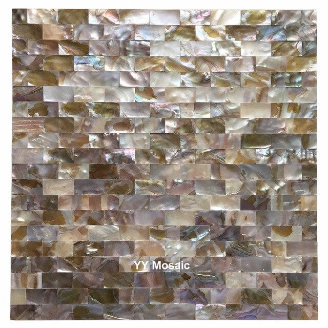 Mattoni Senza Soluzione Di Continuità Naturale Madreperla Arcobaleno  Mosaico Delle Coperture Del Mare Piastrelle, Cucina