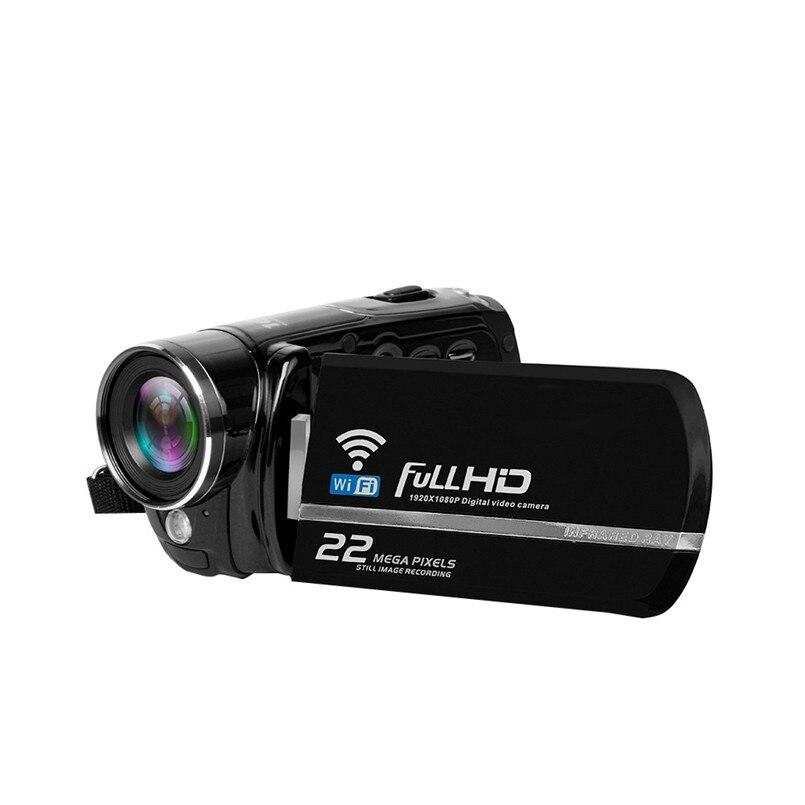 цена на 2018 Wireless WiFi 3 Inch TFT LCD HD 1080P 22MP 16X Digital Zoom Camcorder Video DV Camera Infrared night vision function
