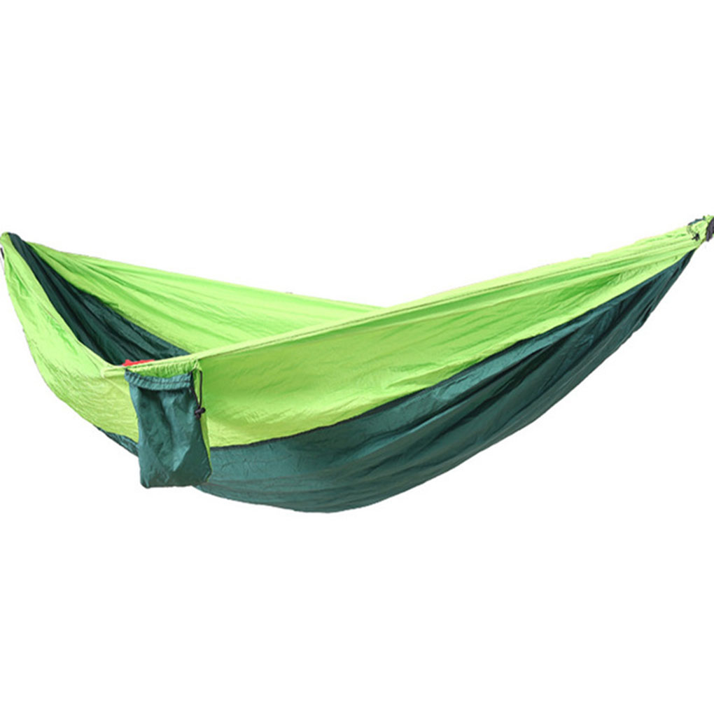 Hammocks Portable Outdoor Hammock Camping Hamac Hanging Sleeping Bed Parachute Fabric Hammock Single Sleeping Swing Furniture