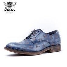 Desai Frühling Herbst Echtes Leder Männer Oxford Schuhe Britischen Stil Spitz Männer Hochzeit Business Kleid Wohnungen