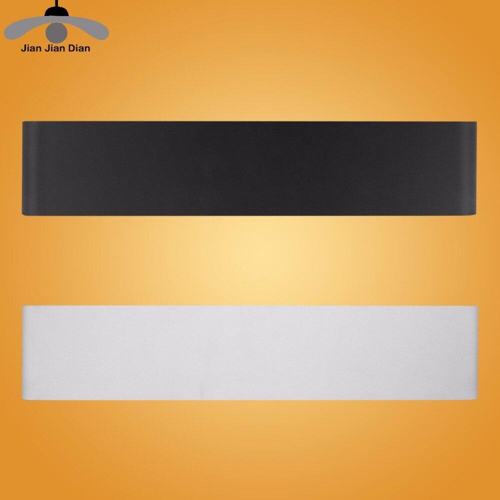 JJD Modern LED Wall Lamp Mirror Lamp Rectangle Light for Living Room/Restroom/Bathroom/Bedroom/Foyer AC 90-265V Black/White square round modern three heads 9w led crystal mirror wall light for bathroom living room ac 85 265v