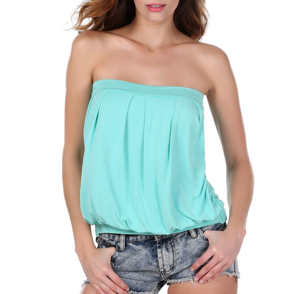 High Quality Sexy Women Tube Top Blouse Women Tops Tees Off Shoulder Beach Summer Style Tops Women Blouse Party Tube Top