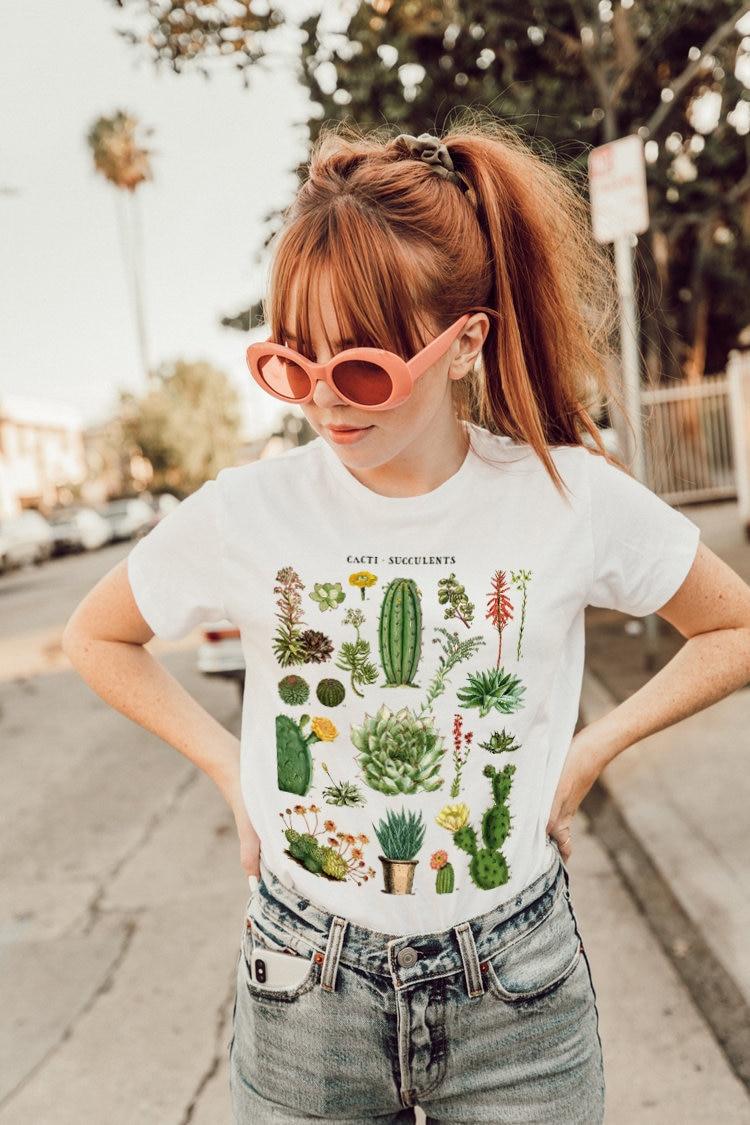 1 Parizona Cacti Von Der Wüste Graphic Tee-vintage Inspiriert Botanische Wüste T-shirt-tucson Graphic Tee-phoenix Graphic Tee