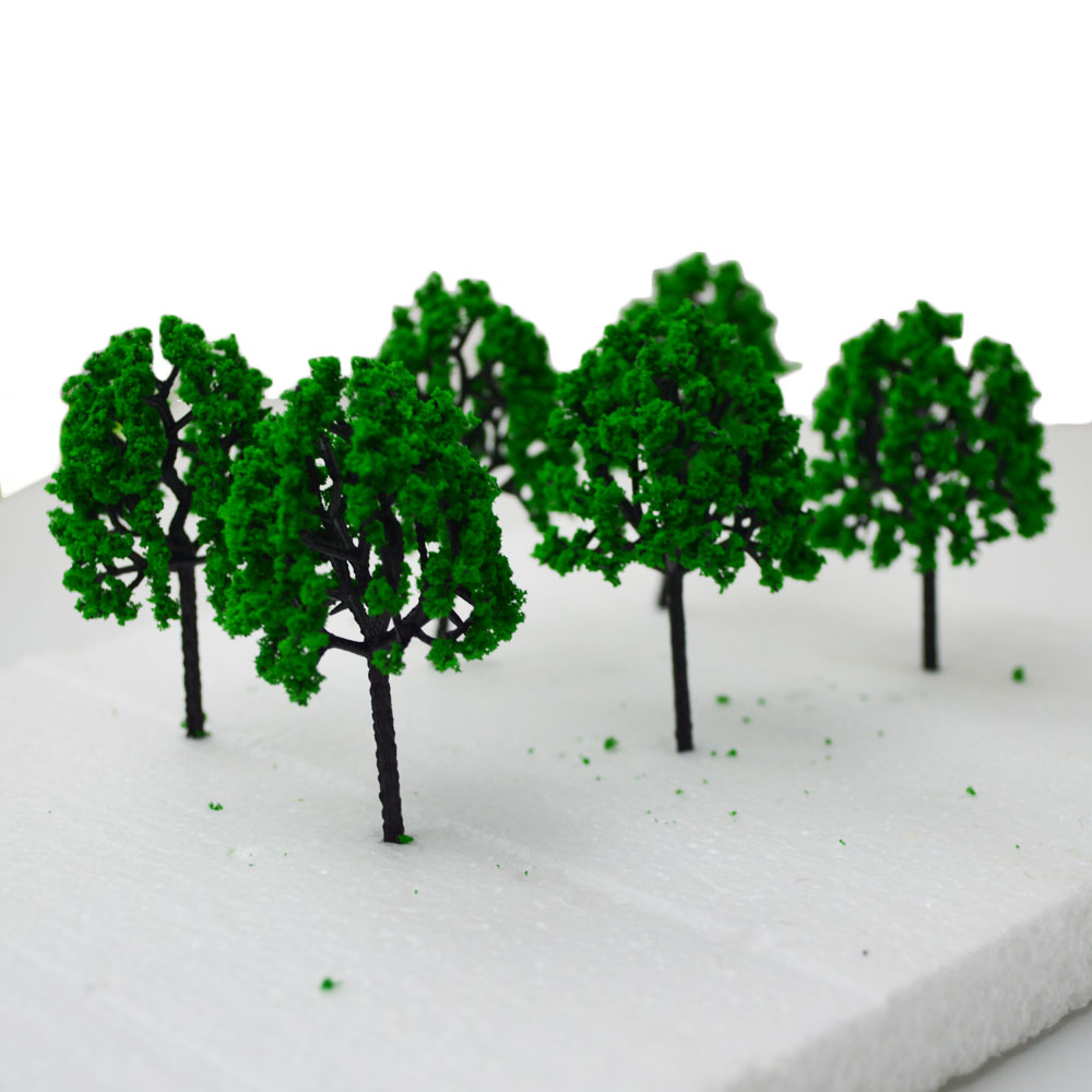 9CM green color Railroad Layout Architectural model making materials scale plastic model tree in Model Building Kits from Toys Hobbies