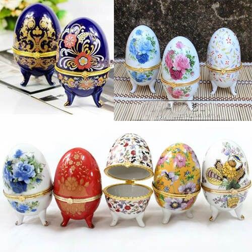 Jewelry box wholesale6pcs chinese handmade cute porcelain egg jewelry box wholesale6pcs chinese handmade cute porcelain egg shape jewelry box gift box negle Images