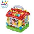 Diversión de los niños Jugar a las Casitas de Piano Musical Toy Aprendizaje Juguetes Educativos Casa Con Luz Eléctrica Juguetes Del Bebé Máquina de Aprendizaje de Idiomas