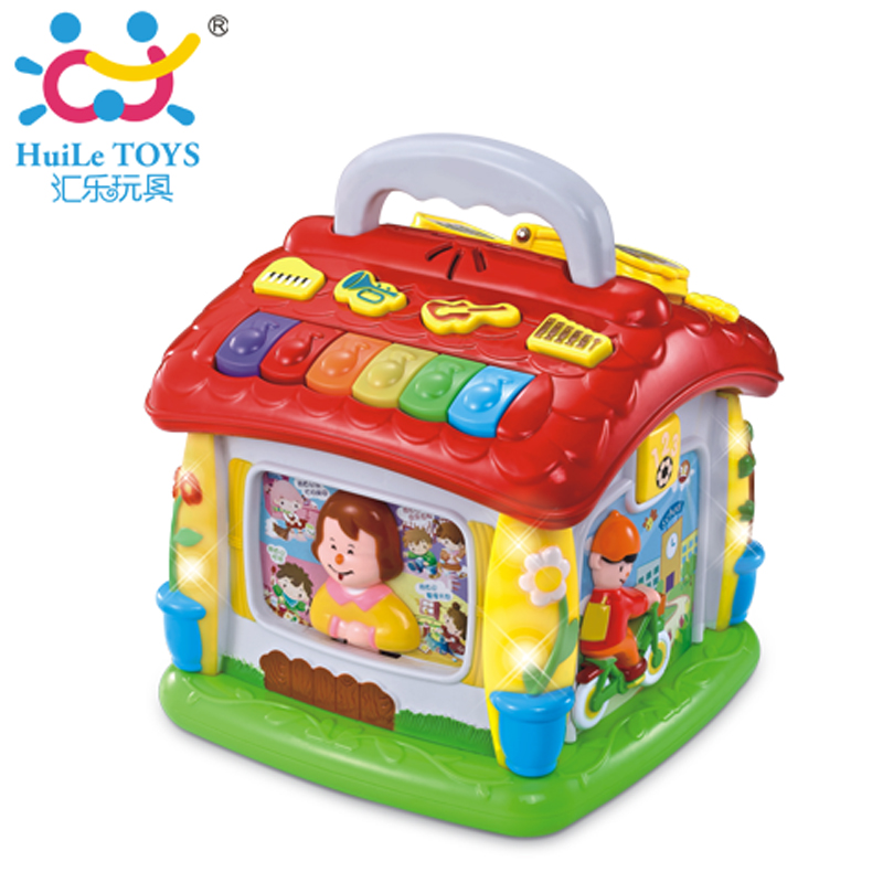 Kids Fun Play House Electric Musical Piano Toy Learning Educational Toys House With Light Baby Learning Language Machine Toys sassy seat doorway jumper 5 toys with musical play mat