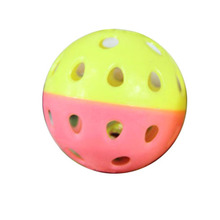 Plastic Pet Cat Toys With Small Bell Diameter 5cm Training Play Ball Toy WXV Sale