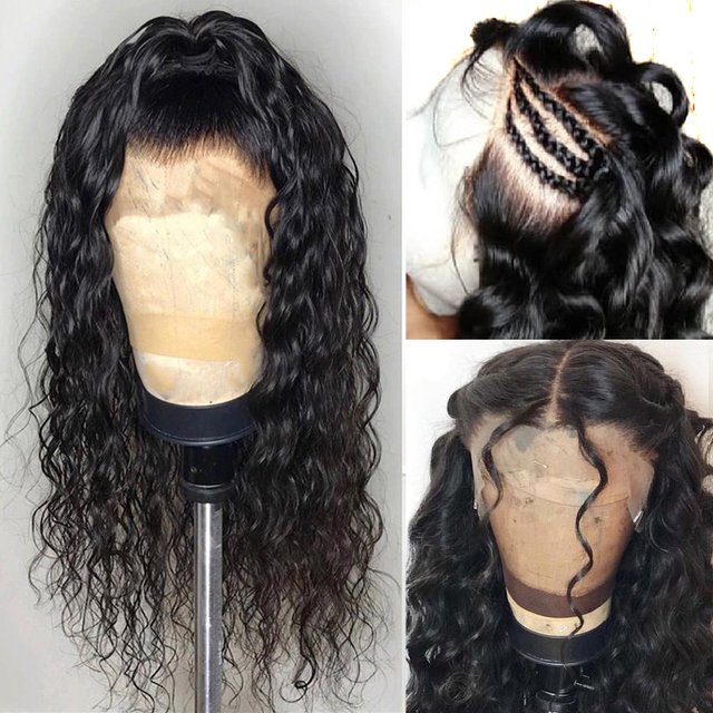 360 Lace Frontal Wig Pre Plucked With Baby Hair 6Inch Deep Part Loose Wave Lace Front Human Hair Wigs 150 Density Full End Remy