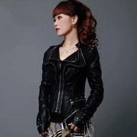 Для женщин 6XL Готический в стиле панк Босоножки из искусственной pu кожи плечами заклепки кожаные пальто Slim Fit за Размеры d Большой Размеры ко