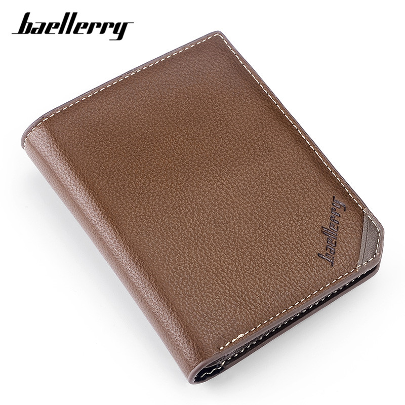 Baellerry Brand Vintage Casual Men Short Bifold Wallet Card Holder Mens Small Wallets Male Purse Large Capacity Standard Purses hot sale leather men s wallets famous brand casual short purses male small wallets cash card holder high quality money bags 2017