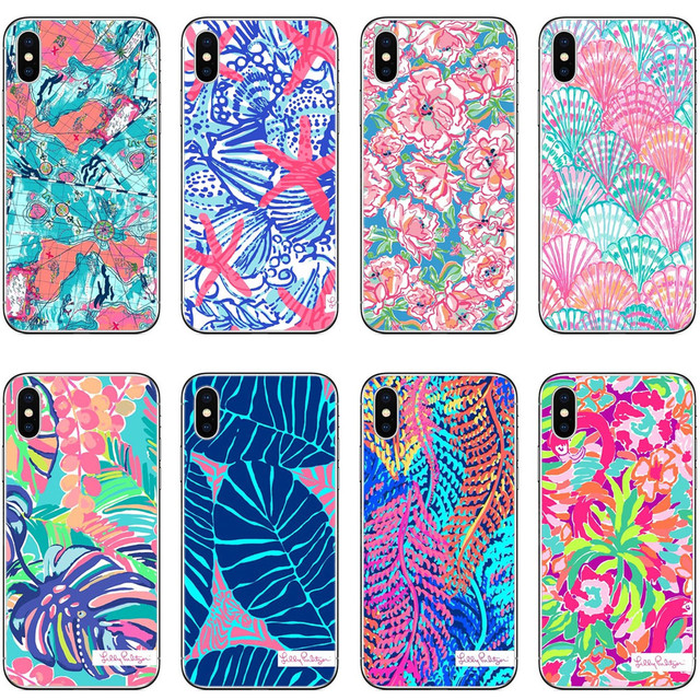 b536f3085de58 US $2.03 40% OFF|Aliexpress.com : Buy Lilly Pulitzer Summer flower Pink  Flamingo Rose Banana leaf Soft Phone Case Cover For iphone X 5 5S SE 6  6SPlus ...