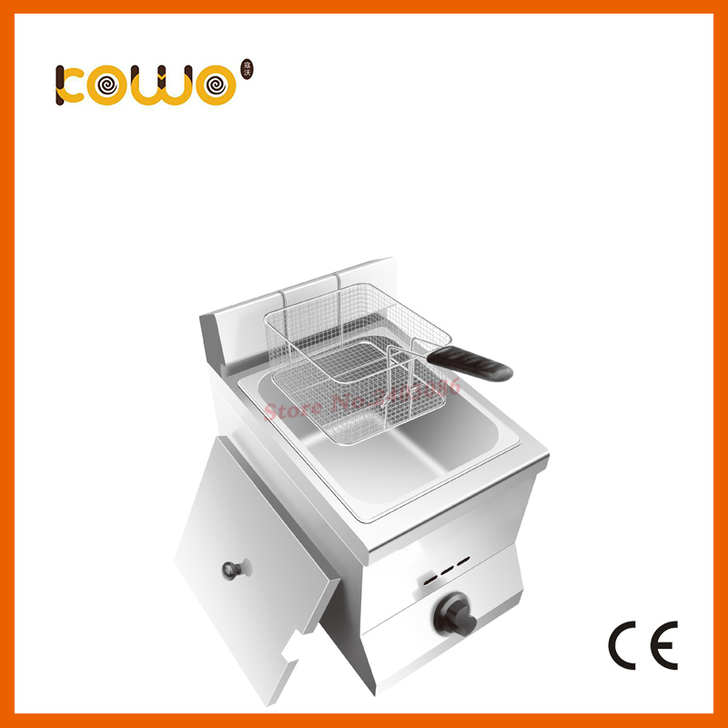 где купить industrial Stainless Steel bakery equipment 1 Tank 1 basket Gas chicken chips Deep Fryer for sale дешево
