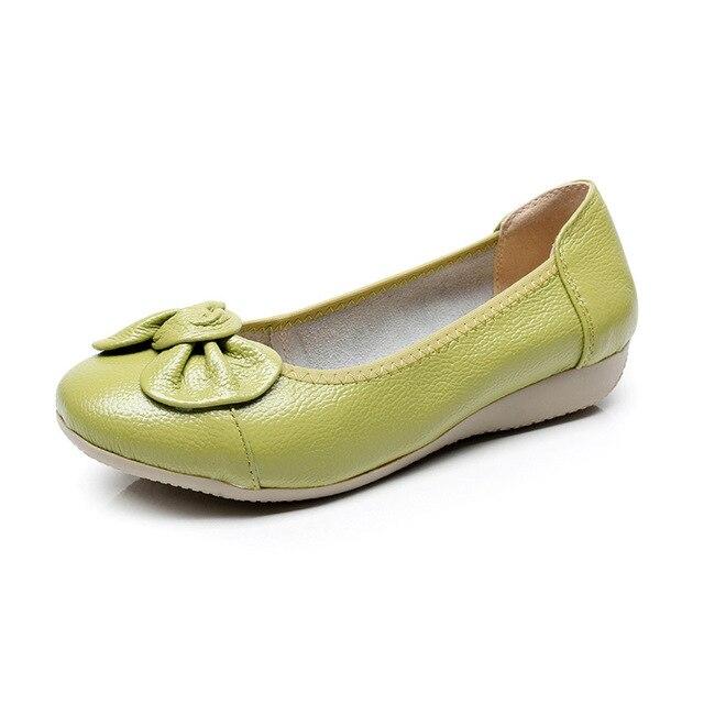 Большие размеры 35-43 круглый носок обувь из натуральной кожи женщины дизайнер плоский каблук женской обуви повседневная обувь женская мода квартиры 8 цвета
