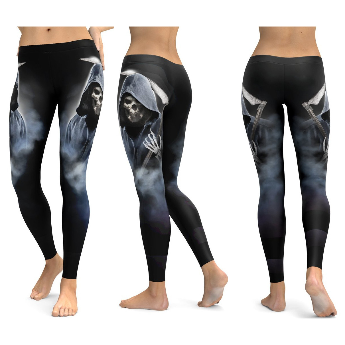 Skull Leggings Yoga Pants Women Sports Pants Fitness Running Sexy Push Up Gym Wear Elastic Slim Workout Leggings 25