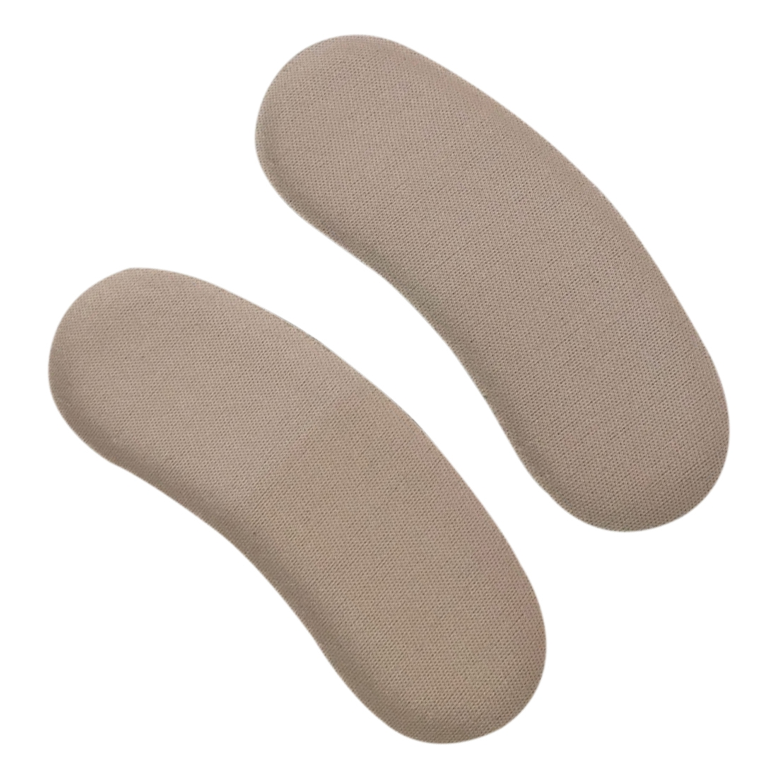 2 Pair Spongy Shoe Heel Inserts Strong Sticky Insoles Pads Cushion Grips Khaki