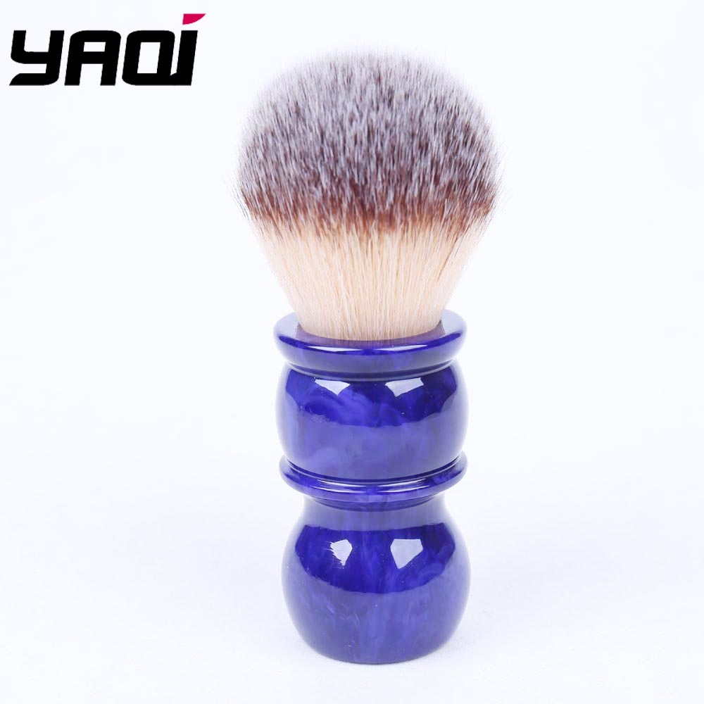 24MM Yaqi Bluish Violet Synthetic Hair Shaving Brushes With Bigger Glue Bump