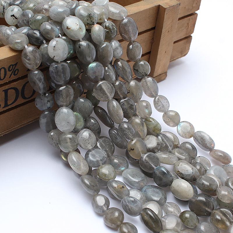 Natural Stone Beads 8-10mm Irregular Labradorite Stone Beads For Jewelry Making Bracelet Necklace 15inches