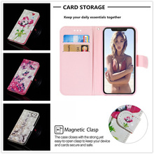 Luxury Flip Wallet for Iphone X Whit Card High Quality Phone Fundas Xs Max Case Pu Holder Stander Painting