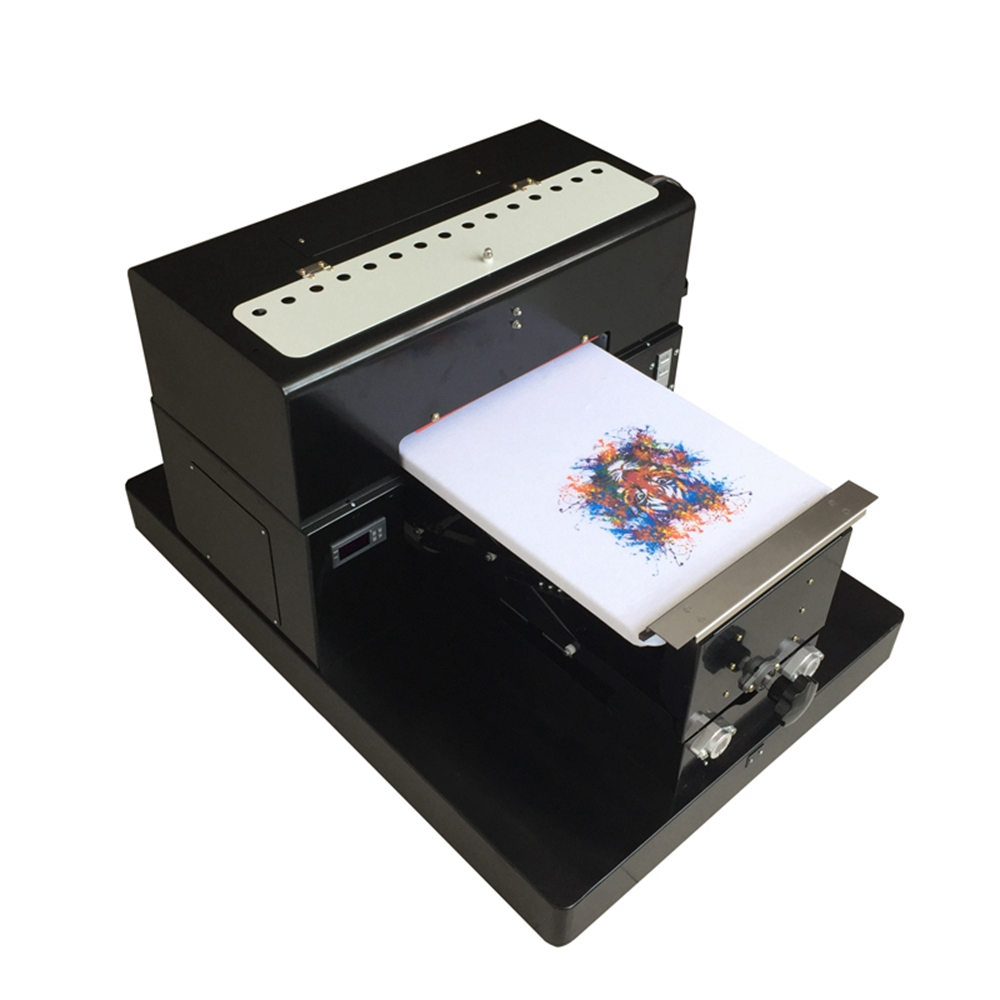 Multicolor A3 Size DTG Digital Garment Printer Directly to Print Dark Light Color Flatbed Printer for