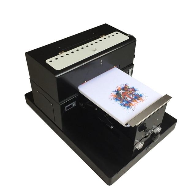 Multicolor A3 Ukuran Digital DTG Garment Printer Ini Diatas untuk Mencetak Gelap Warna Cahaya Flatbed Printer untuk T SHIRT Pakaian Telepon kasus