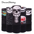 Winter Fleece Bicycle Multi Functional Bandana Headband Seamless Tubular Magic Bandana Tube Ring Scarf Outdoor Sport Skull Face