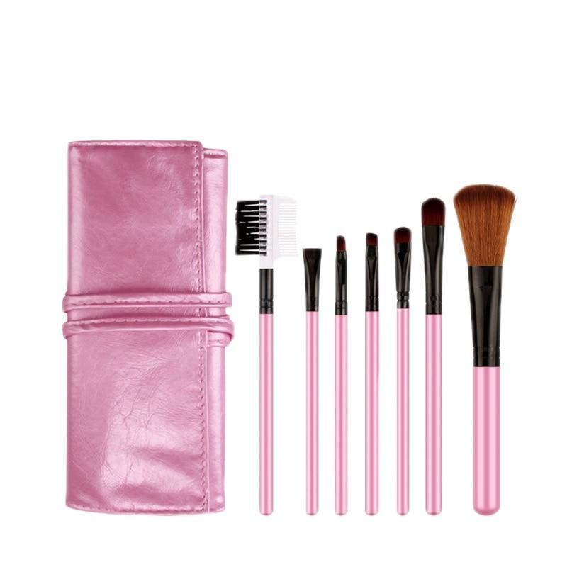 Aloittelija Makeup harja asetettu 7kpl blush harja, luomiväri otsa - Meikki