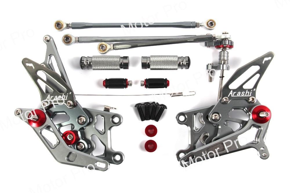 Adjustable Footrests For Honda CBR600RR 2007 2008 Motorcycle Accessories Pedals Foot Rest Peg Rearsets CBR 600 RR CBR600 600RR