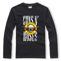 GUNS N' ROSES Long Sleeve T-shirt Men Rock Band Metal Camisetas Hombre Casual Outwear Tops Special Gift Tees For Lovers Couples